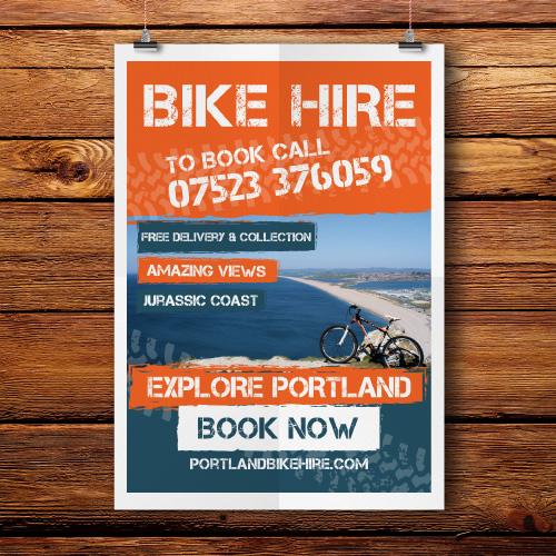 Portland-bike-hire-poster-design