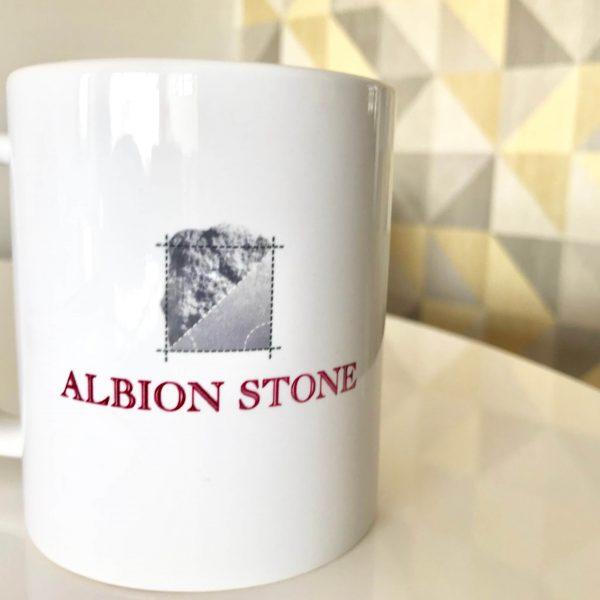 Albion Stone branded mugs