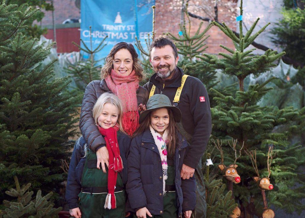 Trinity Street Christmas trees